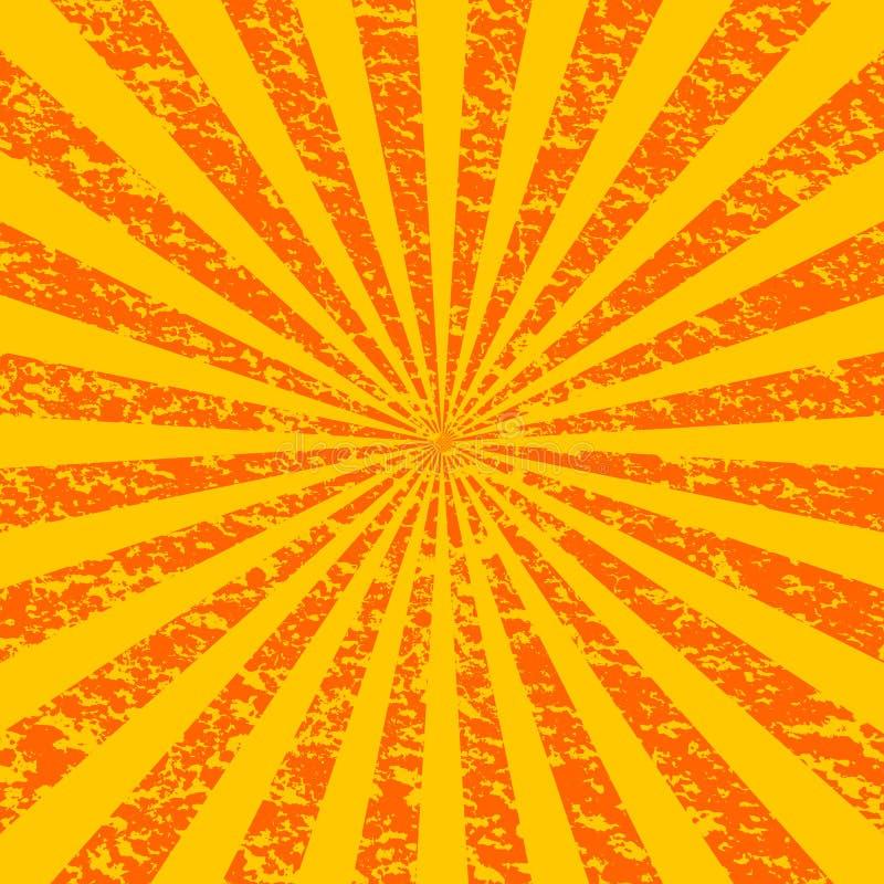 Sunburst de Grunge [1] ilustração stock