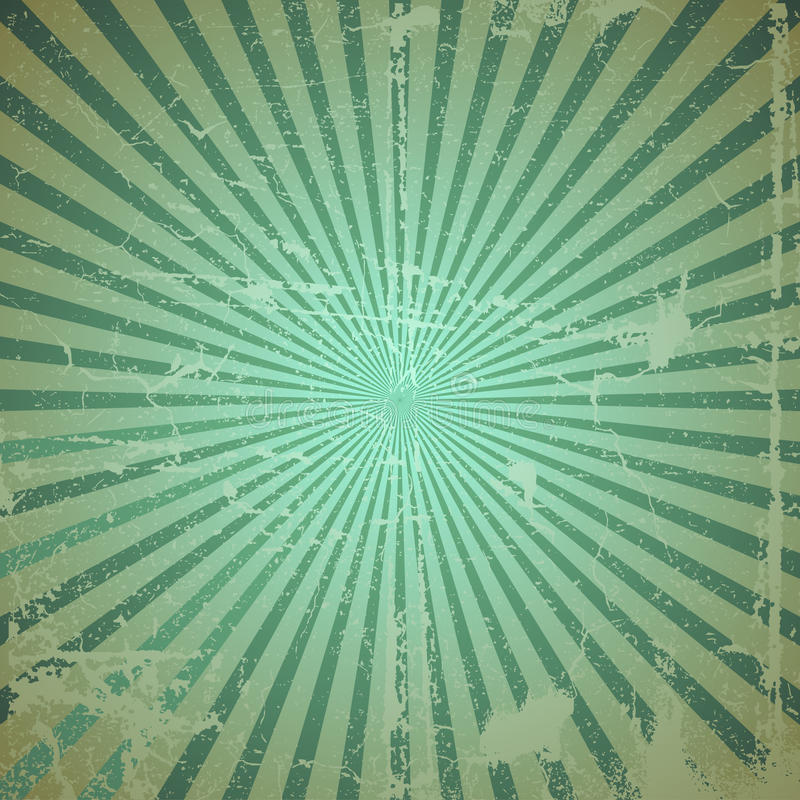 Sunburst de Grunge ilustração do vetor