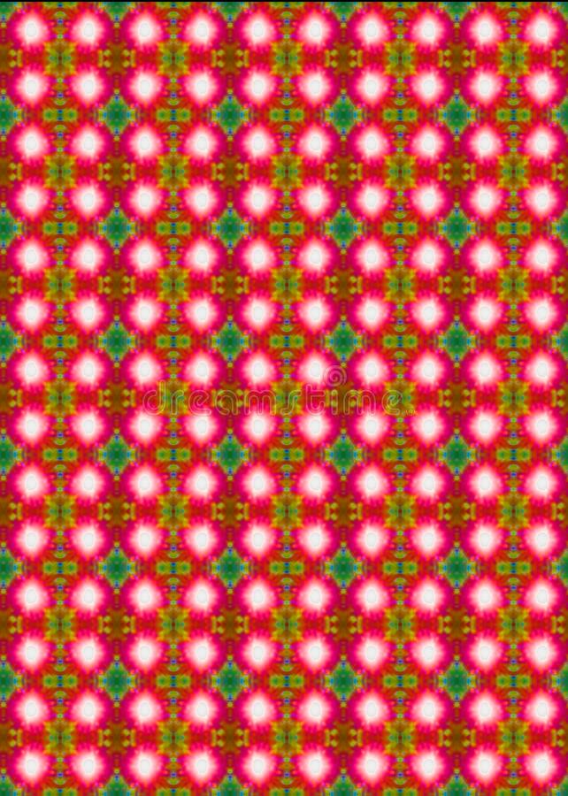 SUNBURST DUPLICATION PATTERN. Abstract image of sunburst duplication in pink and green stock photos