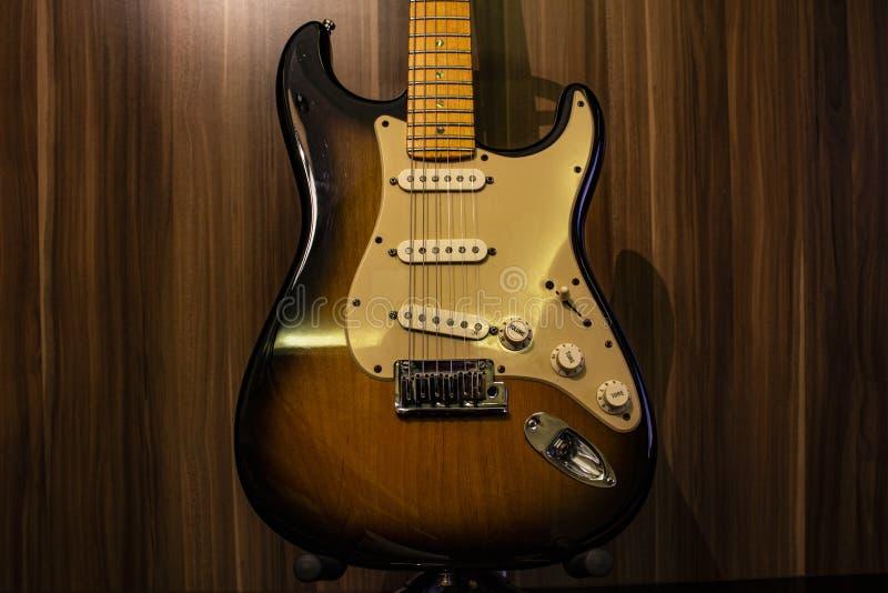 Sunburst Electric Guitar Vintage Deluxe fotografie stock