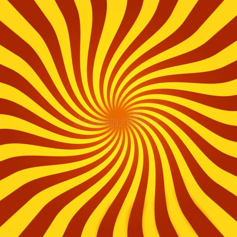Sunburst espiral ilustração do vetor