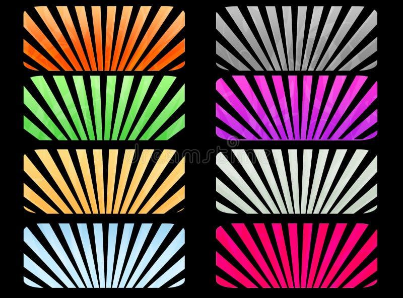 Download Sunburst labels stock illustration. Illustration of sunrise - 13507980