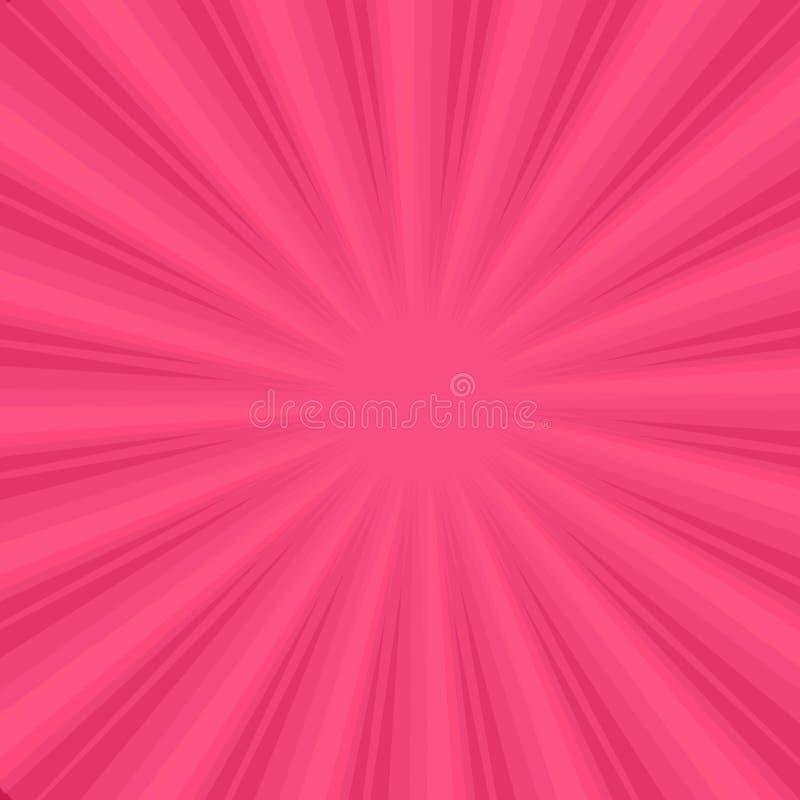 Sunburst on Pink Background royalty free illustration