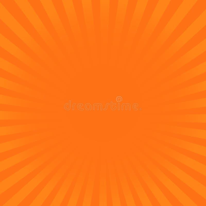 Sunburst promieni pomarańczowy wzór Promieniowa sunburst promienia tła wektoru ilustracja ilustracja wektor