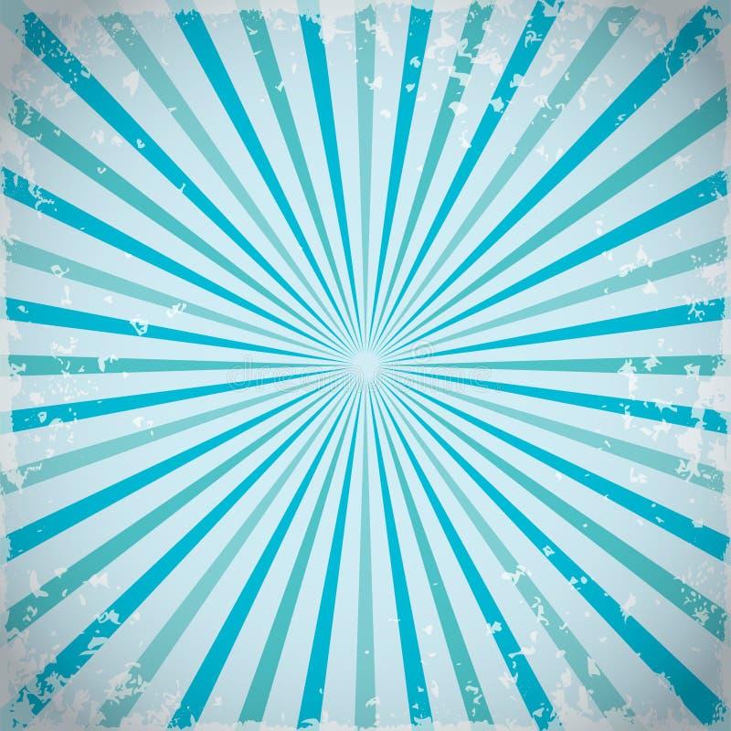 Sunburst promieni retro tło w błękicie również zwrócić corel ilustracji wektora royalty ilustracja
