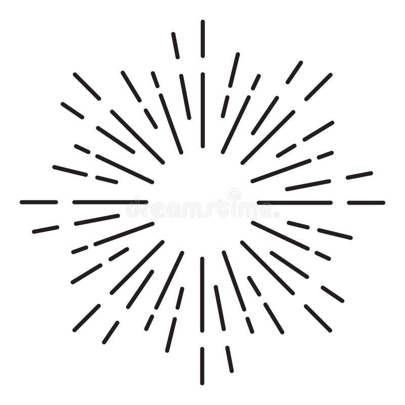 Sunburst prydnad - beståndsdelvektor stock illustrationer