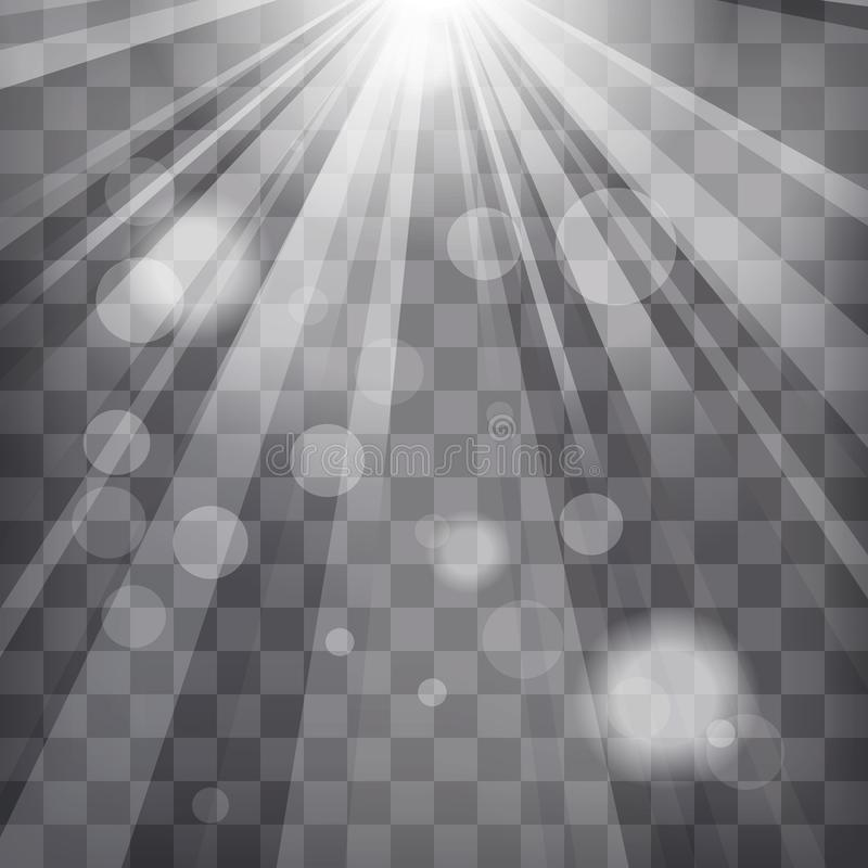Sunburst rays with blur lights on chequered background. Sunburst rays with blur lights on a chequered background vector illustration
