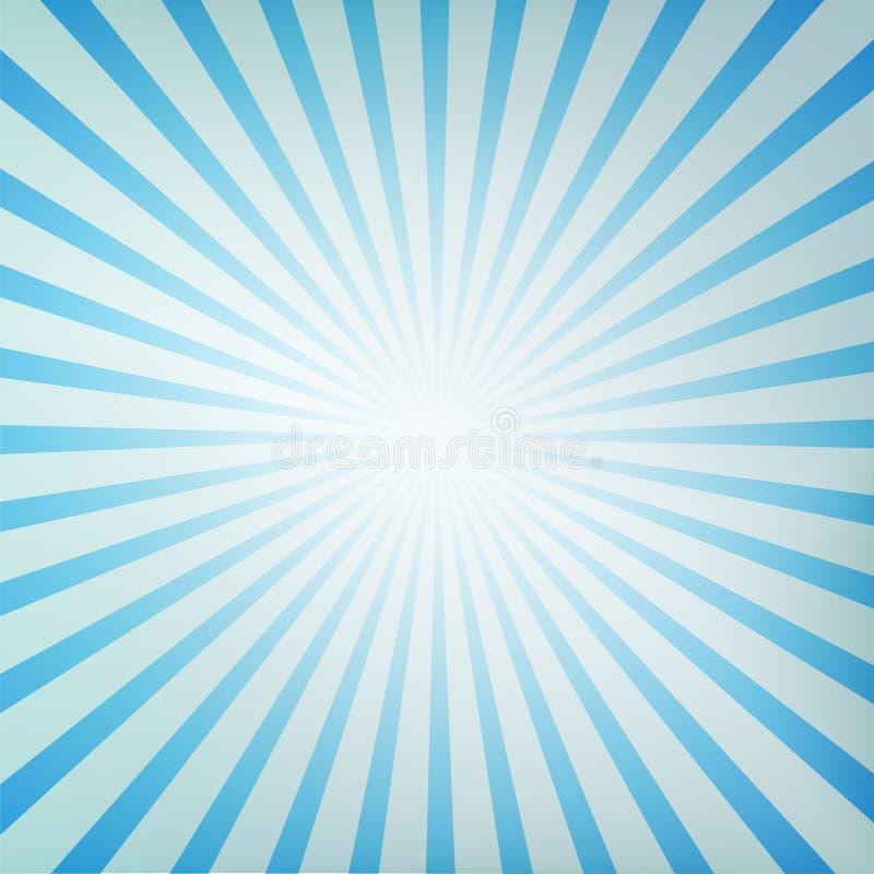 Sunburst retro. A blue sunburst retro