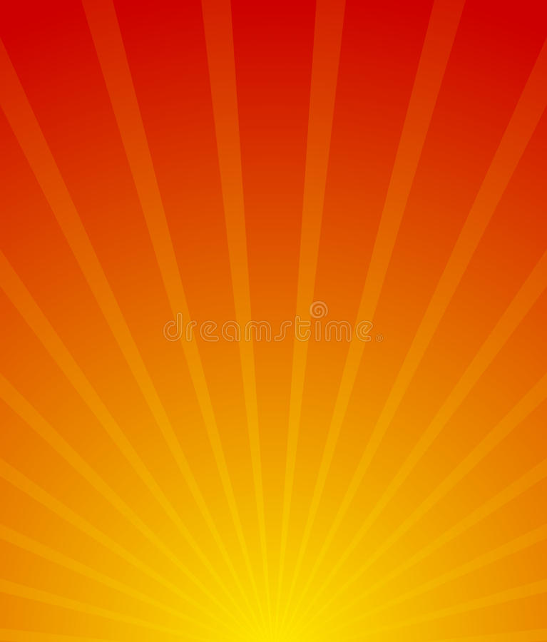 Sunburst, starburst background. Converging-radiating lines abstract background in vertical format. Flyer, poster, placard royalty free illustration