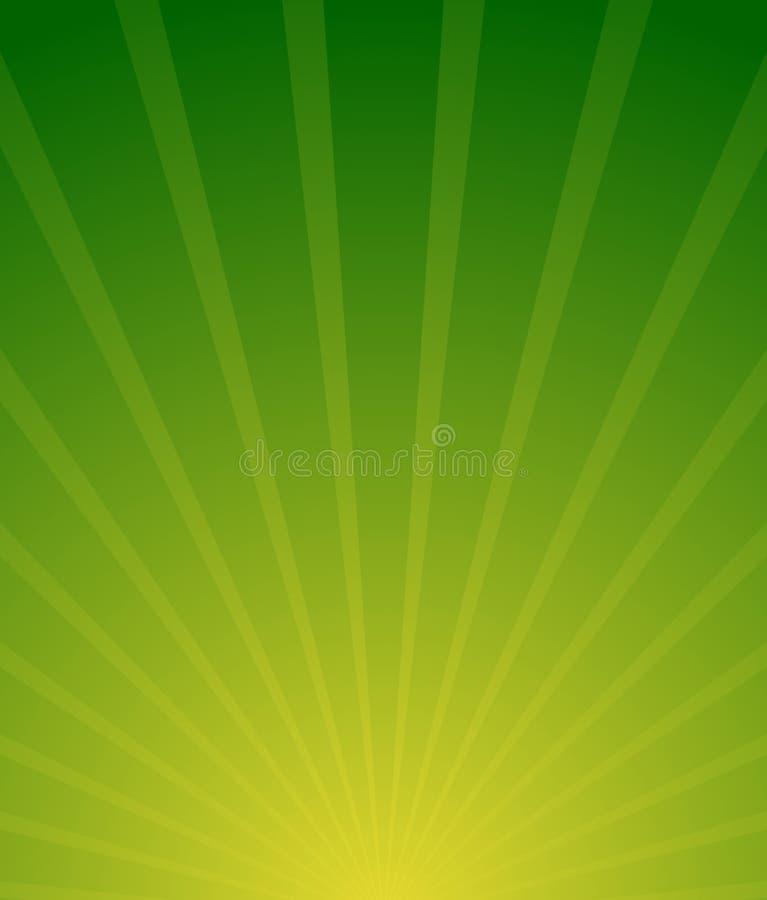 Sunburst, Starburst tło Promieniować linii abstr ilustracja wektor