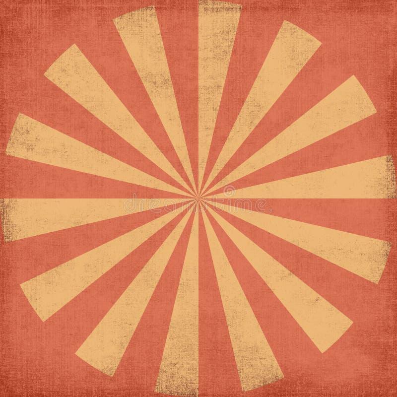 Sunburst sujo ilustração do vetor