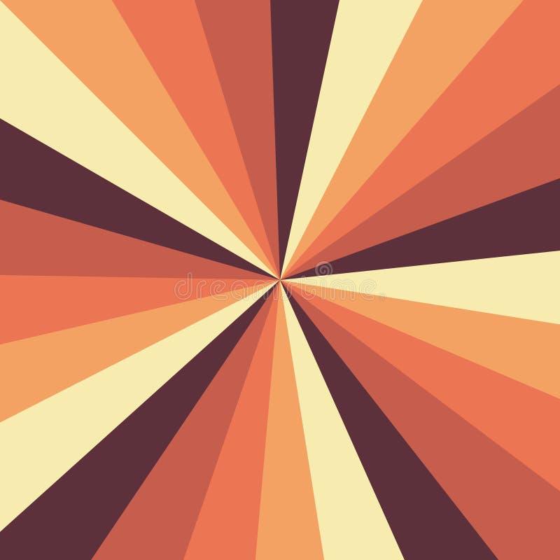 Sunburst tła wektoru wzór z rocznika koloru paletą wirujący promieniowy pasiasty projekt Rocznik lub retro ilustracji