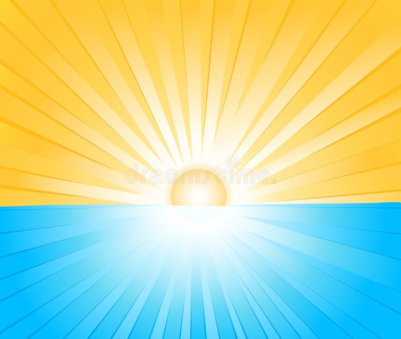 Sunburst vector illustration. Sunburst abstract art vector illustration vector illustration