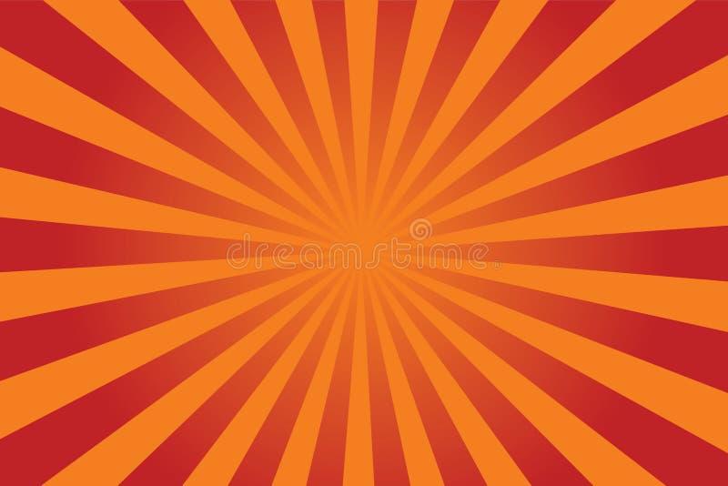 sunburst wektor royalty ilustracja