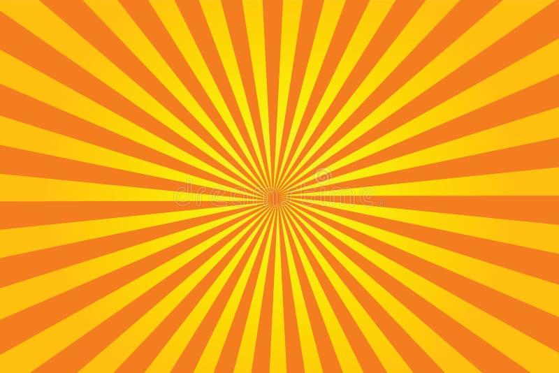 sunburstvektor stock illustrationer