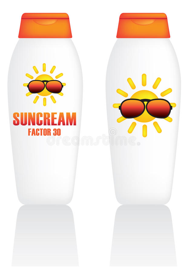 Suncream stock abbildung
