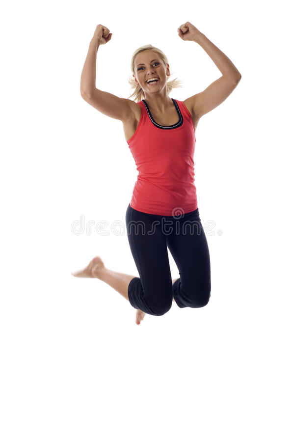 sund banhoppningkvinna royaltyfri bild