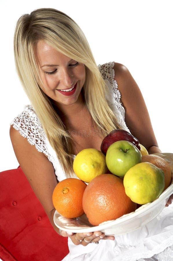 sund blond frukt royaltyfria foton