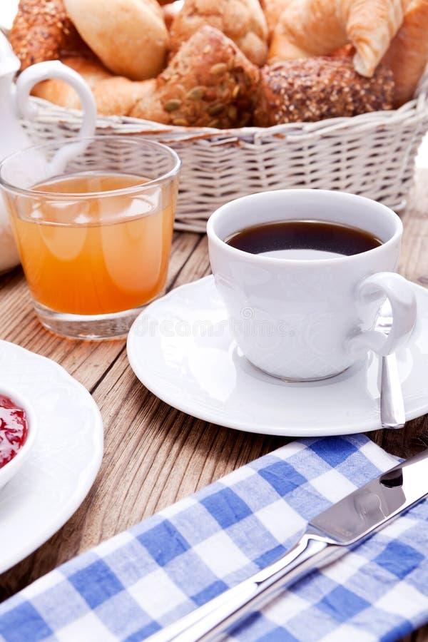 Sund fransk frukostkaffegiffel arkivbilder