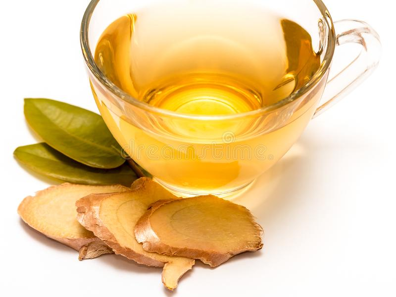 Sund Ginger Tea Represents Refreshes Refreshing och växt- royaltyfri fotografi