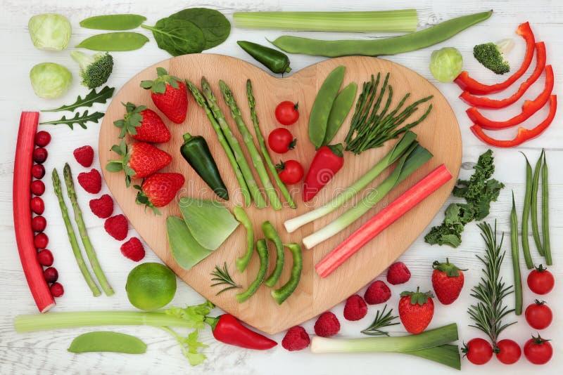 sund hjärta för mat arkivbilder