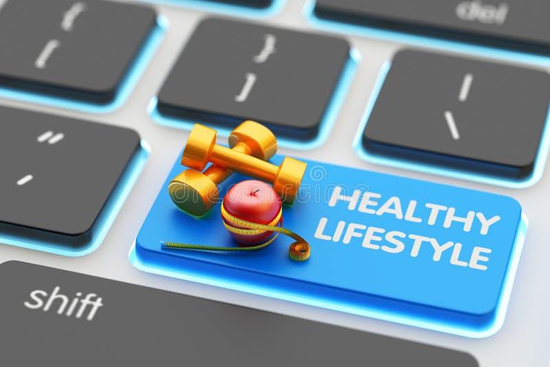 sund livsstil för begrepp royaltyfri illustrationer