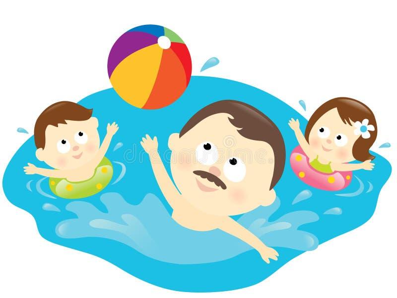 sund livsstil för familj royaltyfri illustrationer