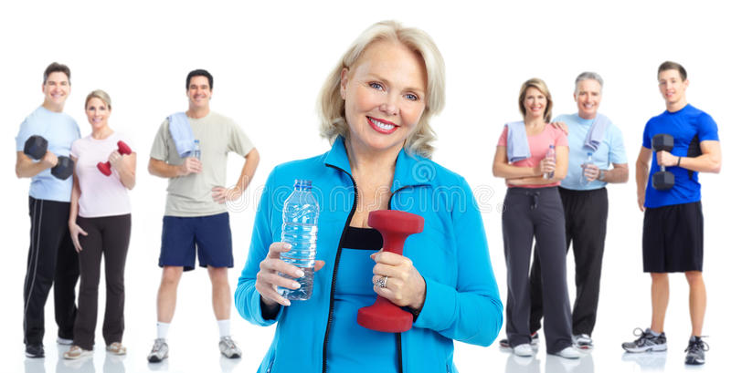 sund livsstil för konditionidrottshall fotografering för bildbyråer