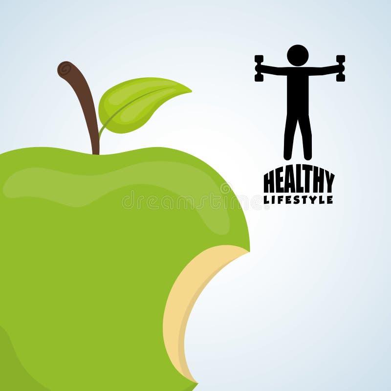 Sund livsstildesign Bodycare symbol illustration vektordiagram vektor illustrationer