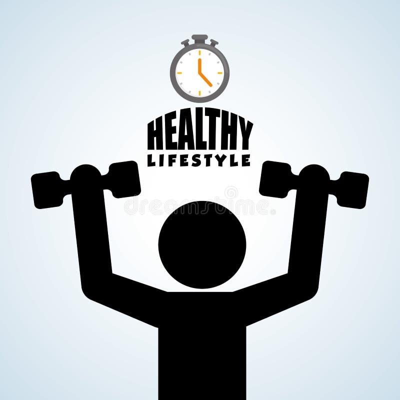 Sund livsstildesign Bodycare symbol illustration vektordiagram stock illustrationer