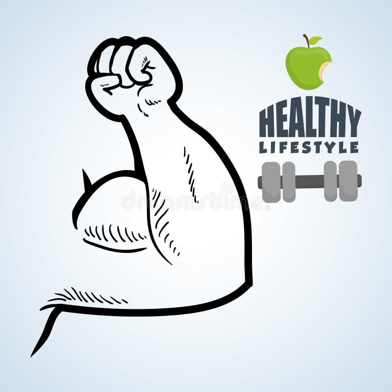Sund livsstildesign Bodycare symbol Isolerad illustration, vektordiagram vektor illustrationer