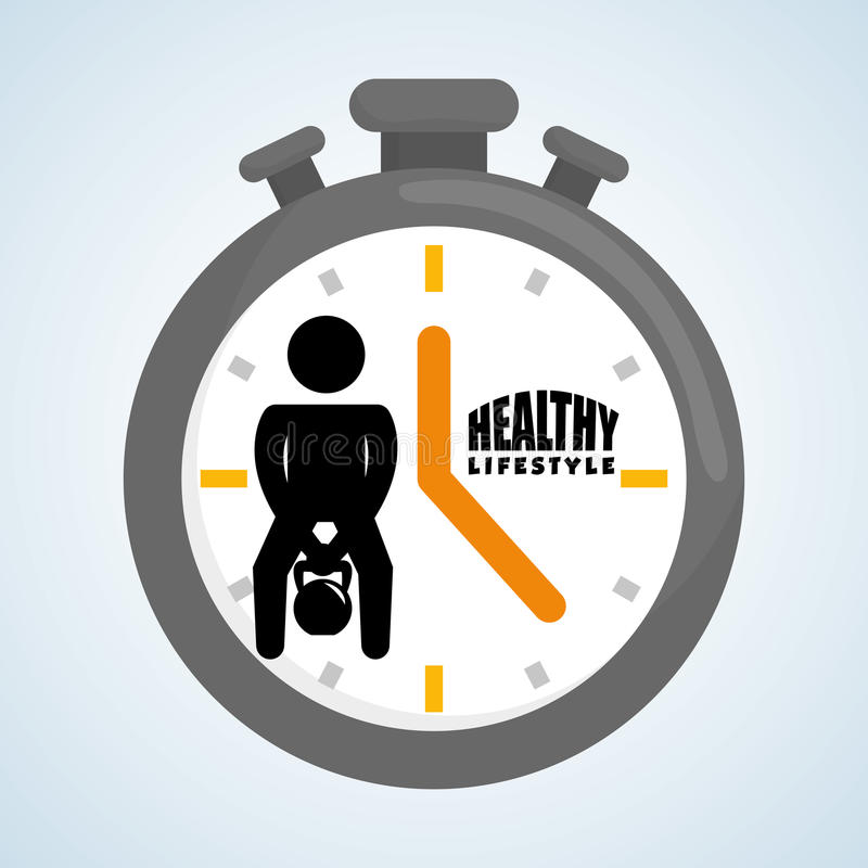 Sund livsstildesign Bodycare symbol Isolerad illustration, vektordiagram stock illustrationer