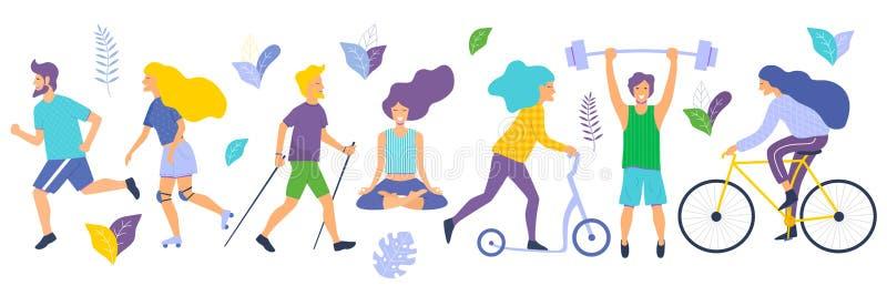 Sund livsstilvektorillustration royaltyfri illustrationer