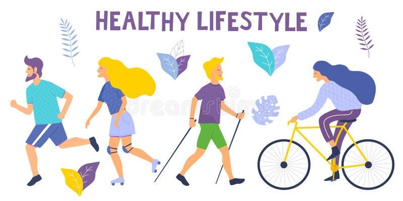 Sund livsstilvektorillustration vektor illustrationer