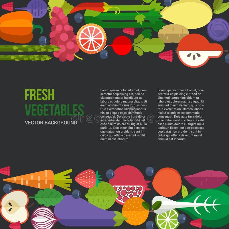 sund mat vektor illustrationer