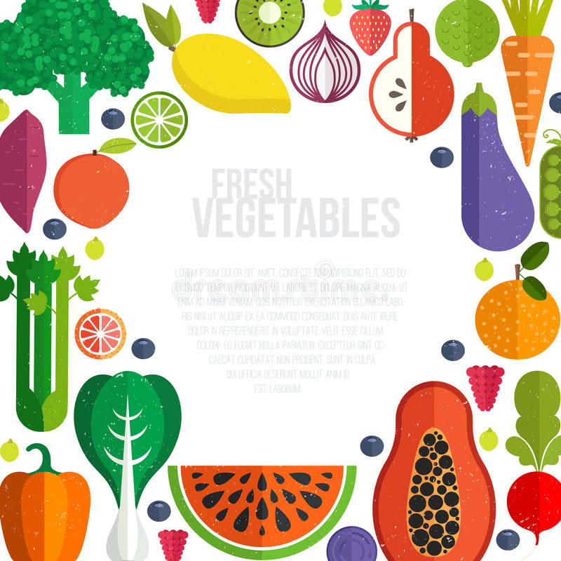 sund mat stock illustrationer