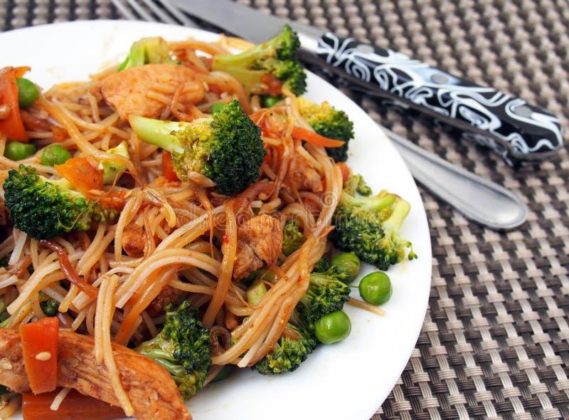 Sund mat av Thailand - thailändskt fegt block: kryddigt saftigt, varmt royaltyfria foton