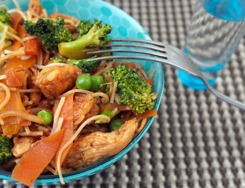 Sund mat av Thailand - thailändskt fegt block: kryddigt saftigt, varmt royaltyfri foto