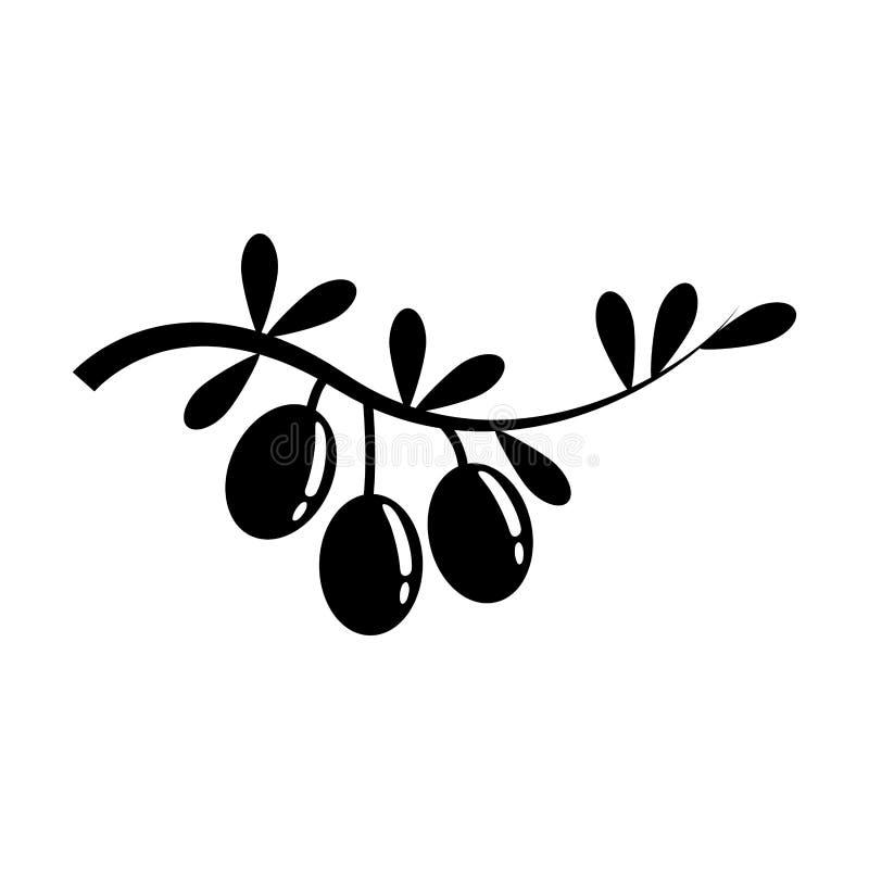 Sund mat för olivolja royaltyfri illustrationer