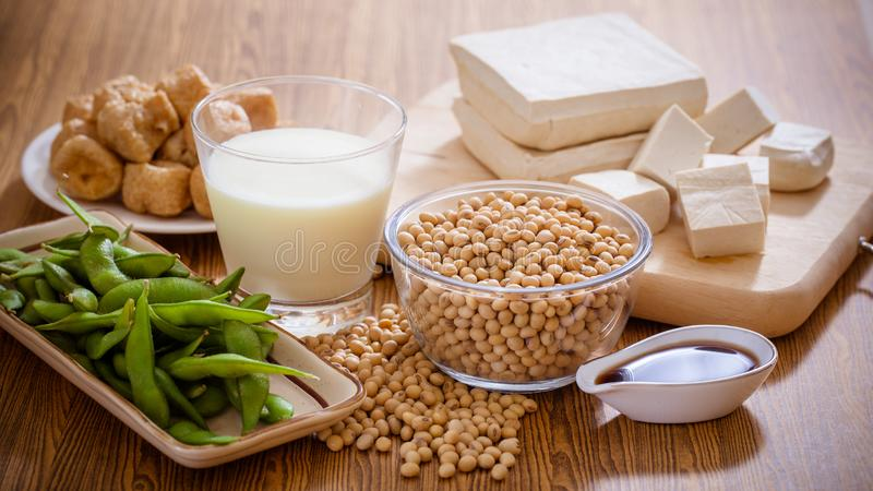 Sund mat för sojabönaprodukter royaltyfria foton