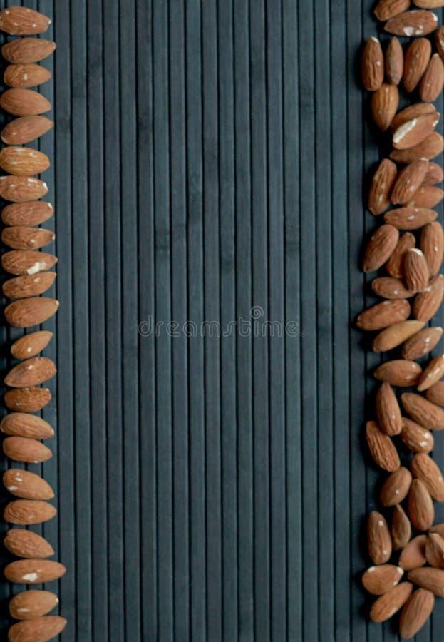Sund mat f?r slut f?r bakgrundsbild upp mandelmuttrar textur arkivbilder