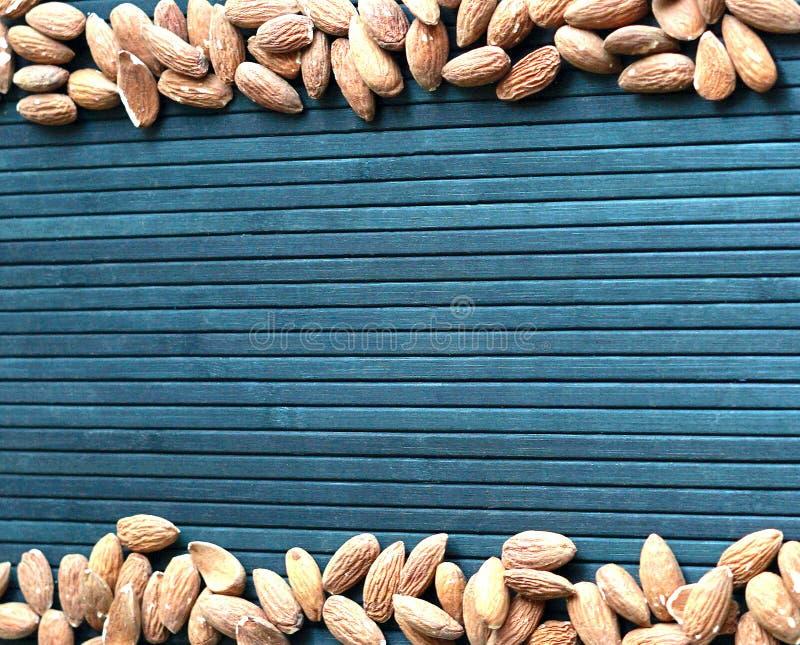Sund mat f?r slut f?r bakgrundsbild upp mandelmuttrar textur royaltyfri fotografi
