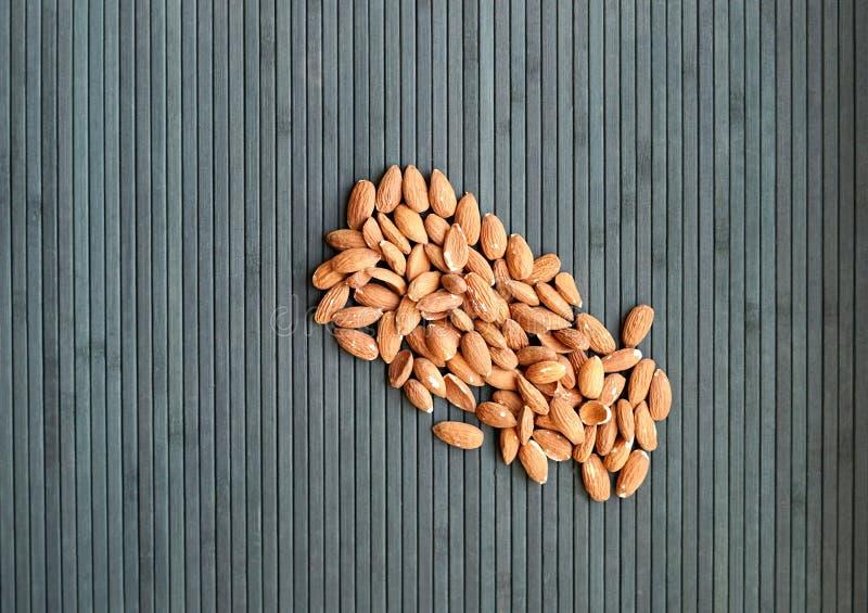 Sund mat f?r slut f?r bakgrundsbild upp mandelmuttrar textur royaltyfria foton