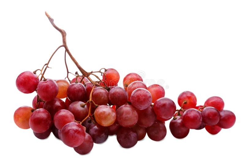 sund mat Närbild av den nya mogna gruppen av druvor som isoleras på vit bakgrund royaltyfri foto