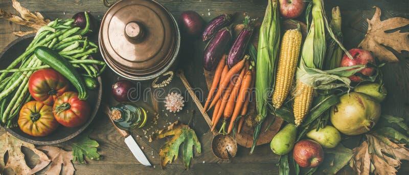 Sund matlagningbakgrund för nedgång, bred sammansättning royaltyfria bilder