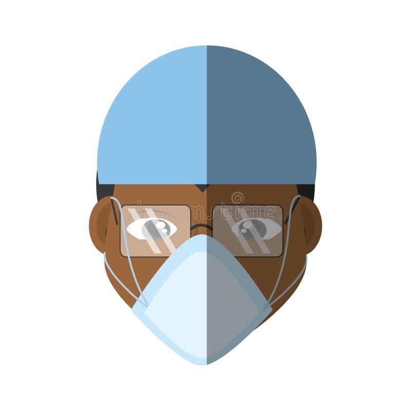 sund medicinsk vård för framsidadoktorsmaskering royaltyfri illustrationer