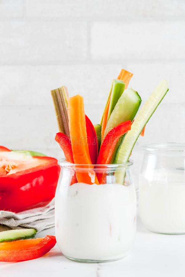 Sund mellanmålaptitretare för sommar, blandad färgrik ny vegetabl royaltyfri bild