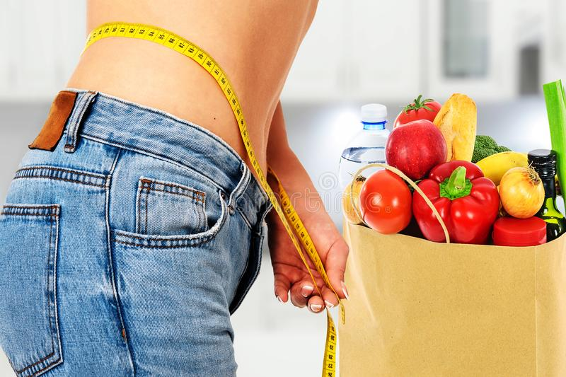 Sund näring och bantar arkivbild