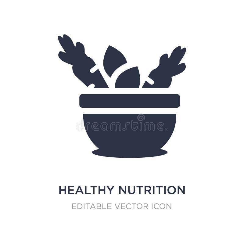 sund näringsymbol på vit bakgrund Enkel beståndsdelillustration från matbegrepp royaltyfri illustrationer