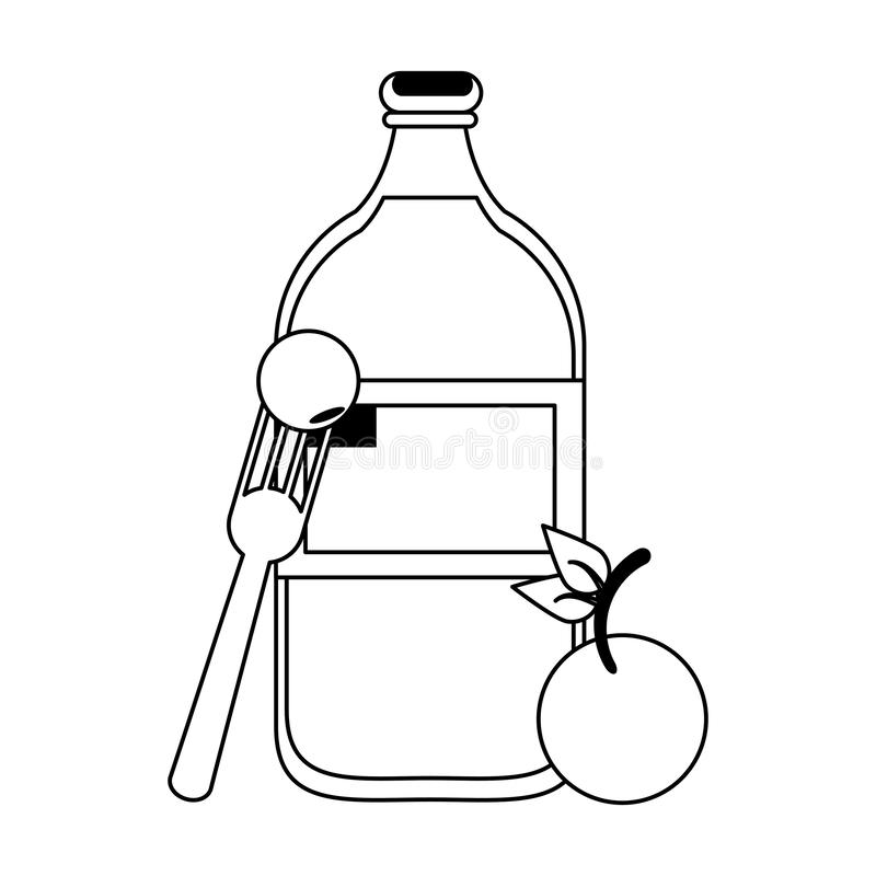Sund och allsidig mattecknad film i svartvitt stock illustrationer